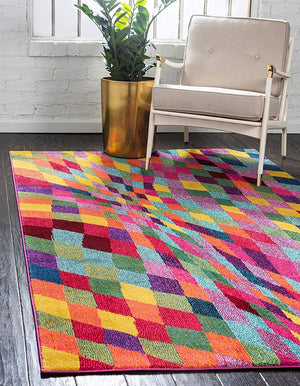 9931 Multi-Color Abstract Modern Contemporary Area Rugs