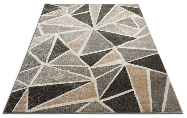 2961 Gray Geometric Abstract Contemporary Area Rugs