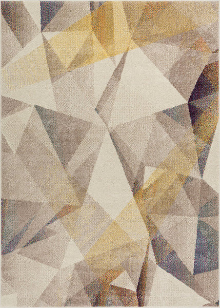 2902 Beige Abstract Design Contemporary Area Rugs