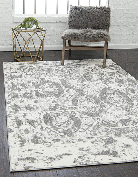 5139 Gray Distressed Vintage Oriental Area Rugs