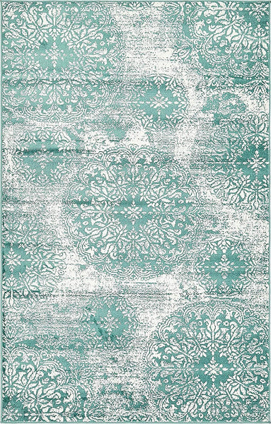 5098 Turquoise Distressed Oriental Area Rugs