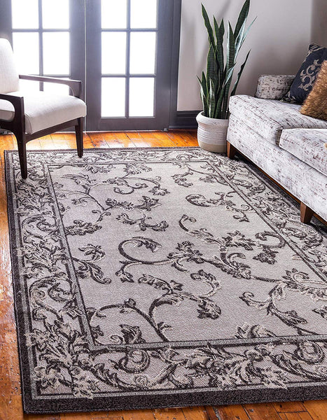 7159 Beige Brown Outdoor-Indoor Oriental Area Rugs