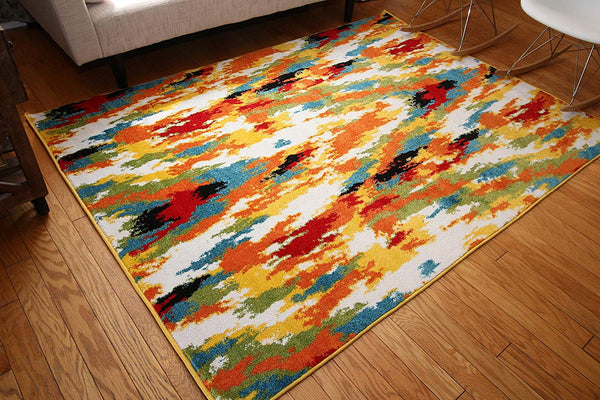 7001 Multi-Color Colorful Contemporary Area Rugs