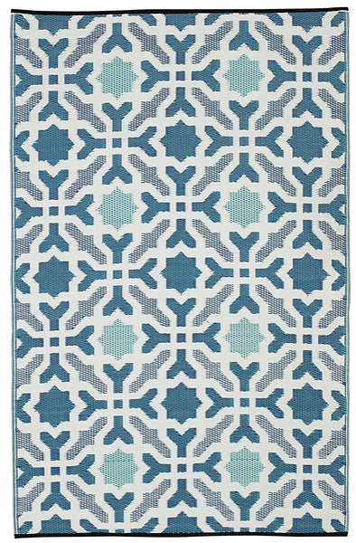 7112 Blue Reversible Outdoor/Indoor Area Rugs