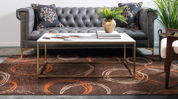9925 Brown Modern Contemporary Area Rugs