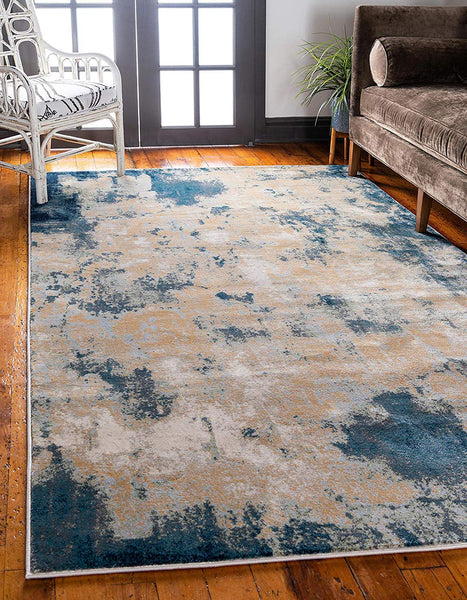 0161 Beige Abstract Contemporary Area Rugs