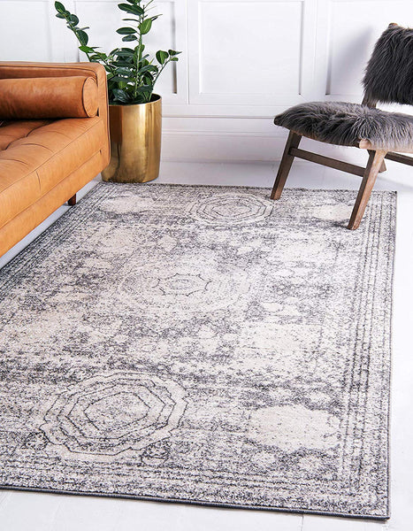 5123 Ivory Distressed Vintage Oriental Area Rugs
