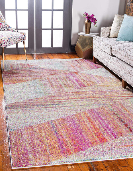 9917 Multi-Color Modern Contemporary Area Rugs