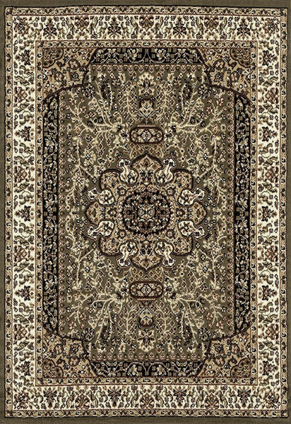 0550 Green Oriental Area Rugs