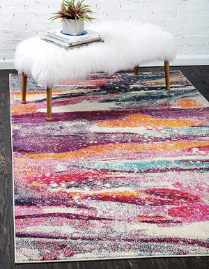 9928 Multi-Color Abstract Modern Contemporary Area Rugs