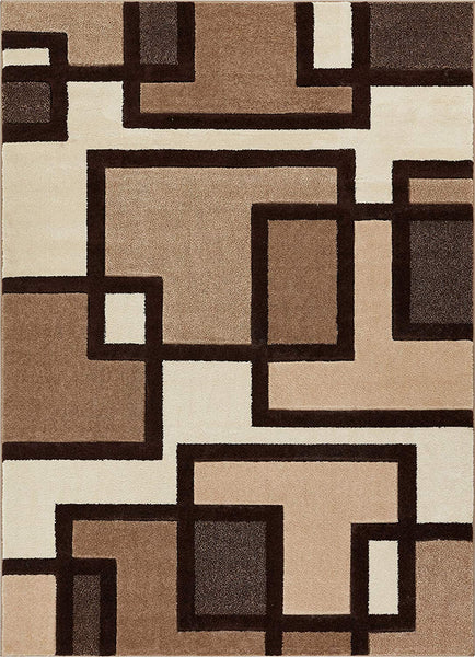 6104 Beige Hand Carved Contemporary Area Rugs