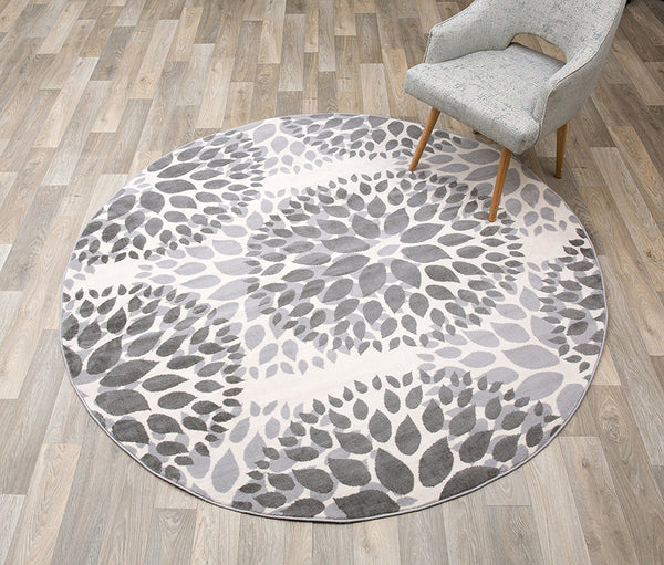 5199 Gray Medallion Contemporary Area Rugs