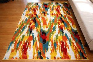 Modern Trendz Yellow Colorful Contemporary Rugs