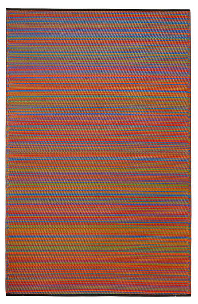 7100 Multi-Color 100% Recycled Outdoor Area Rugs