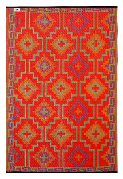 7114 Orange Reversible Outdoor/Indoor Area Rugs
