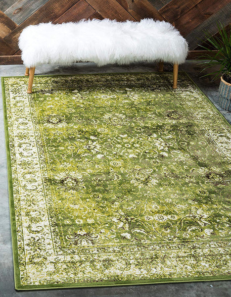 5124 Green Distressed Vintage Oriental Area Rugs