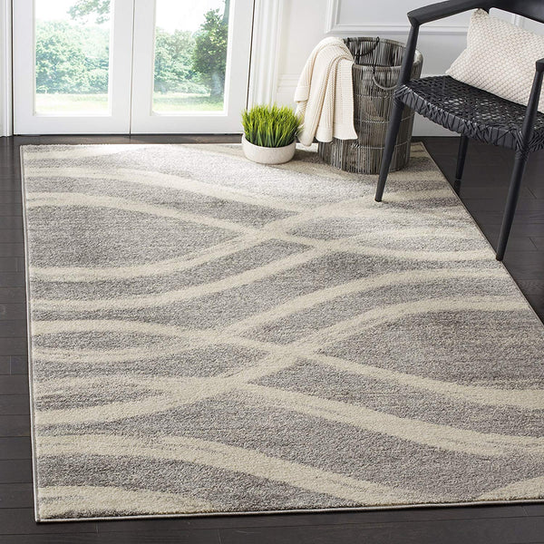 0107 Gray Modern Contemporary Area Rugs