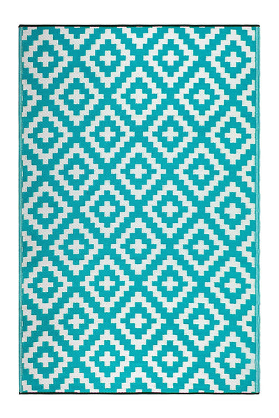 7119 Light Blue Reversible Outdoor/Indoor Area Rugs
