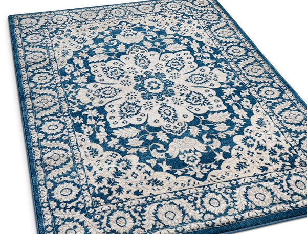 2928 Blue Vintage Medallion Oriental Area Rugs