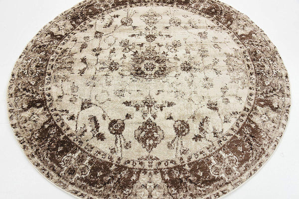 5125 Ivory Distressed Vintage Oriental Area Rugs