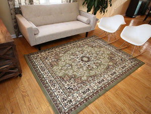 0532 Green Oriental Area Rugs