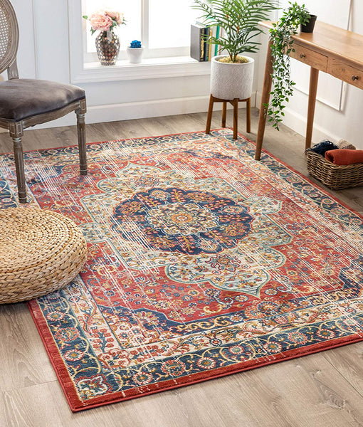2940 Red Persian Medallion Area Rugs