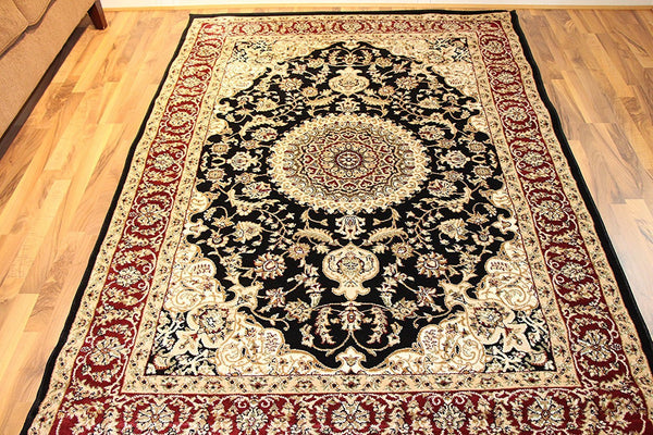 5124 Black Medallion Oriental Area Rugs