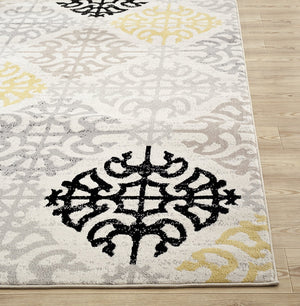 0360 Ivory Contemporary Area Rugs