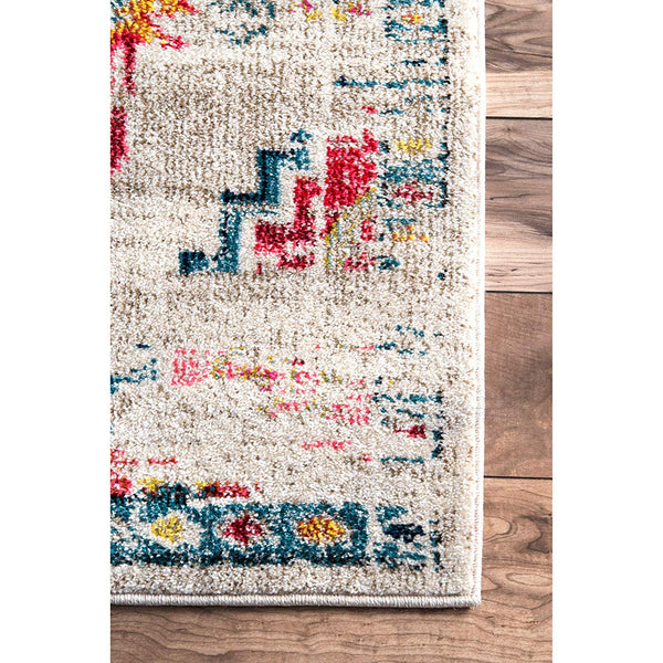 9352 Teal Blue Colorful Distressed Oriental Area Rugs