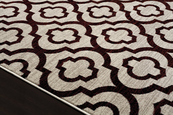 2027 Red Moroccan Trellis Area Rugs