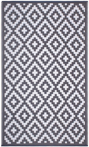 7101 Gray 100% Recycled Outdoor Area Rugs