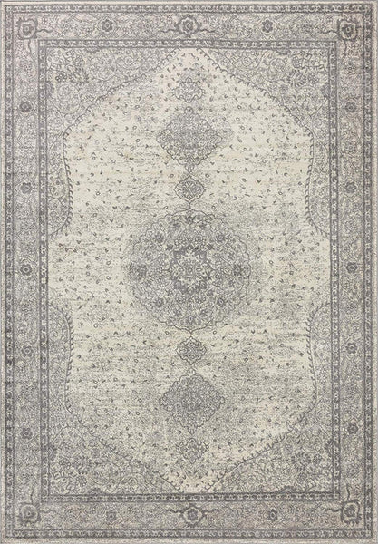 5142 Gray Medallion Vintage Area Rugs
