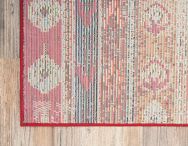 0175 Cherry Pink Tribal Southwestern Vintage Area Rugs
