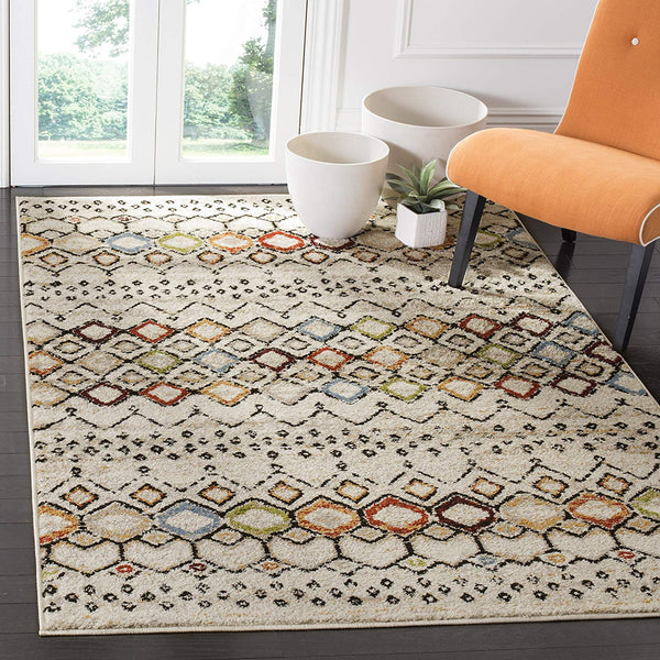 9947 Ivory Multi-Color Modern Contemporary Area Rugs