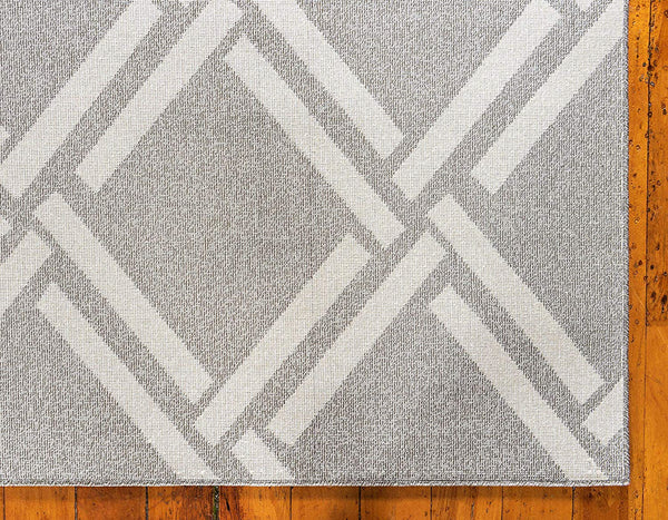 9718 Gray Moroccan Trellis Contemporary Area Rugs