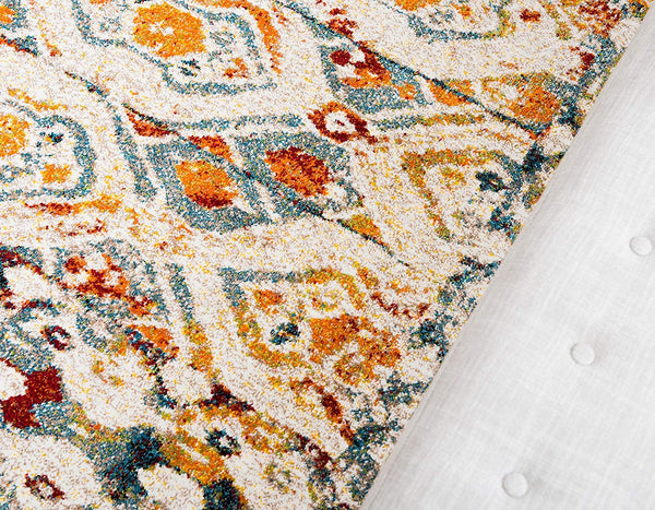 5139 Multi-Color Distressed Vintage Oriental Area Rugs