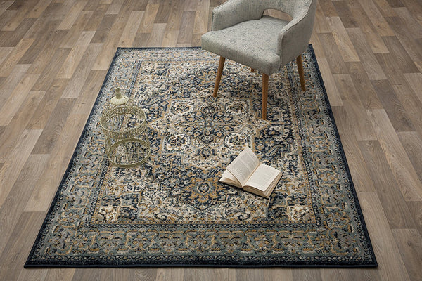 2914 Blue Medallion Persian Area Rugs