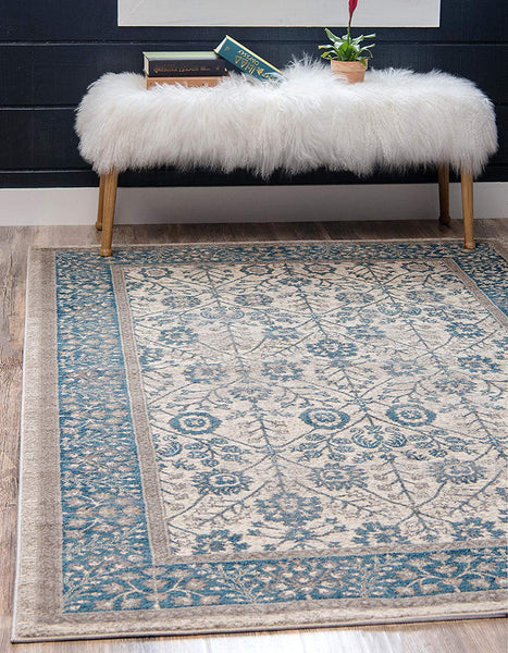 5107 Ivory Distressed Persian Area Rugs