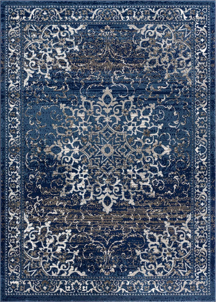 3956 Blue Medallion Oriental Area Rugs