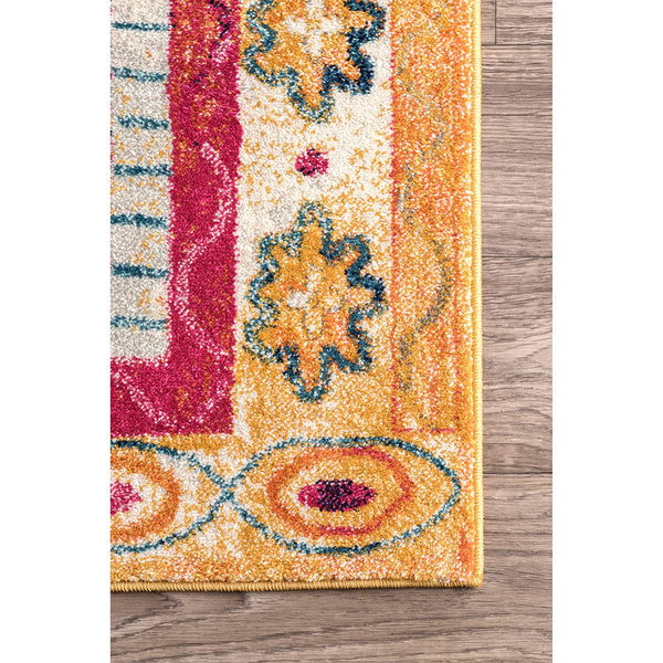 9345 Gold Tribal Medallion Oriental Area Rugs