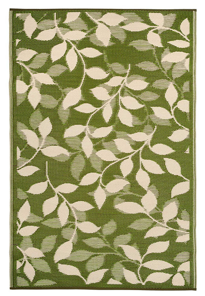 7110 Green Branches 100% Recycled Outdoor Area Rugs