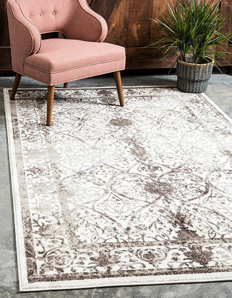 5114 Beige Distressed Oriental Area Rugs