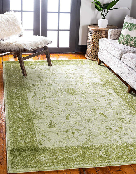 5121 Green Oriental Area Rugs