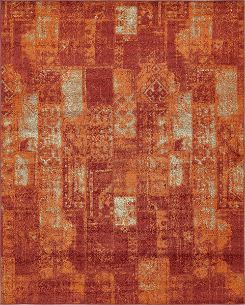 0215 Terracotta Harvest Contemporary Area Rugs