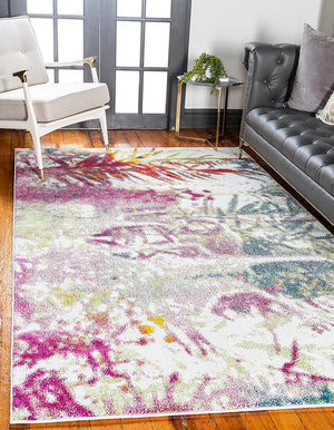 9935 Multi-Color Abstract Modern Contemporary Area Rugs