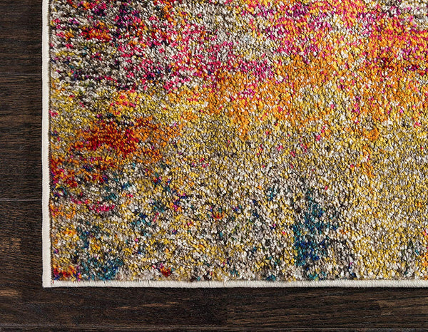 9910 Multi-Color Abstract Contemporary Area Rugs