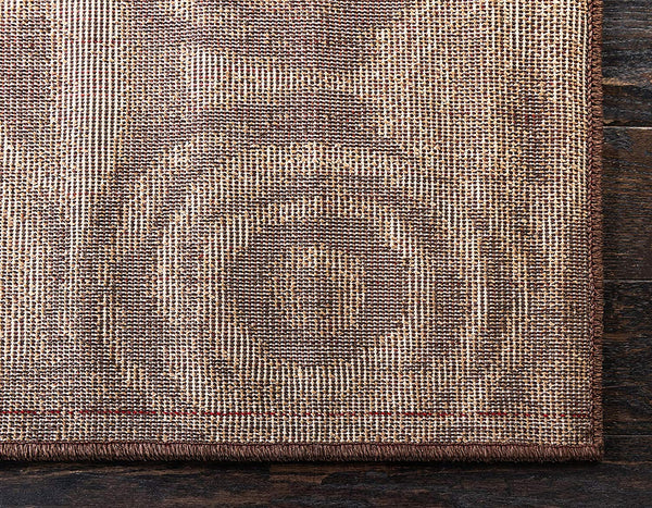 9929 Brown Abstract Modern Contemporary Area Rugs