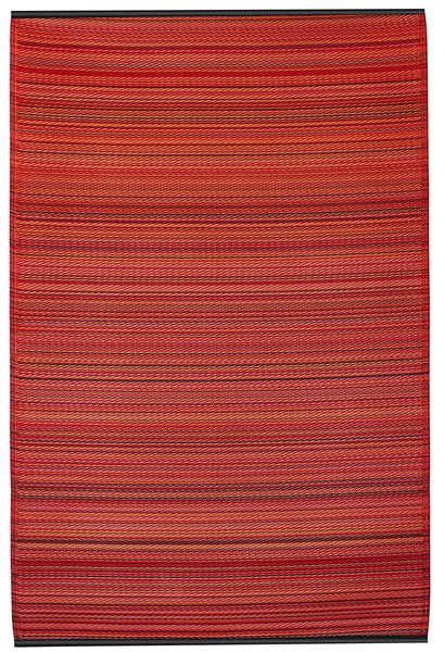 7111 Red Recycled Indoor/Outdoor Area Rugs