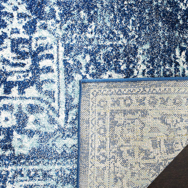9365 Navy Blue Distressed Oriental Area Rugs