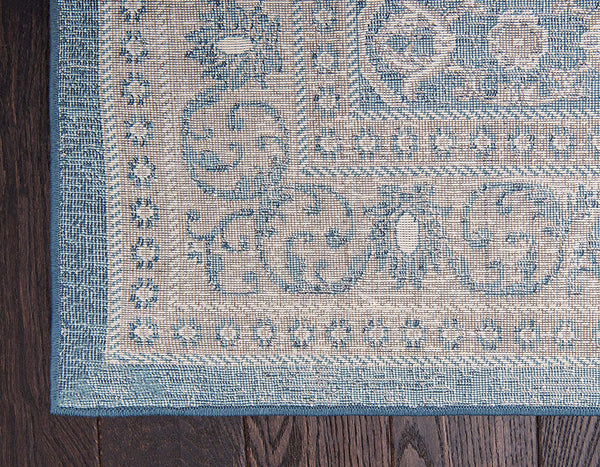 5118 Blue Distressed Vintage Area Rugs